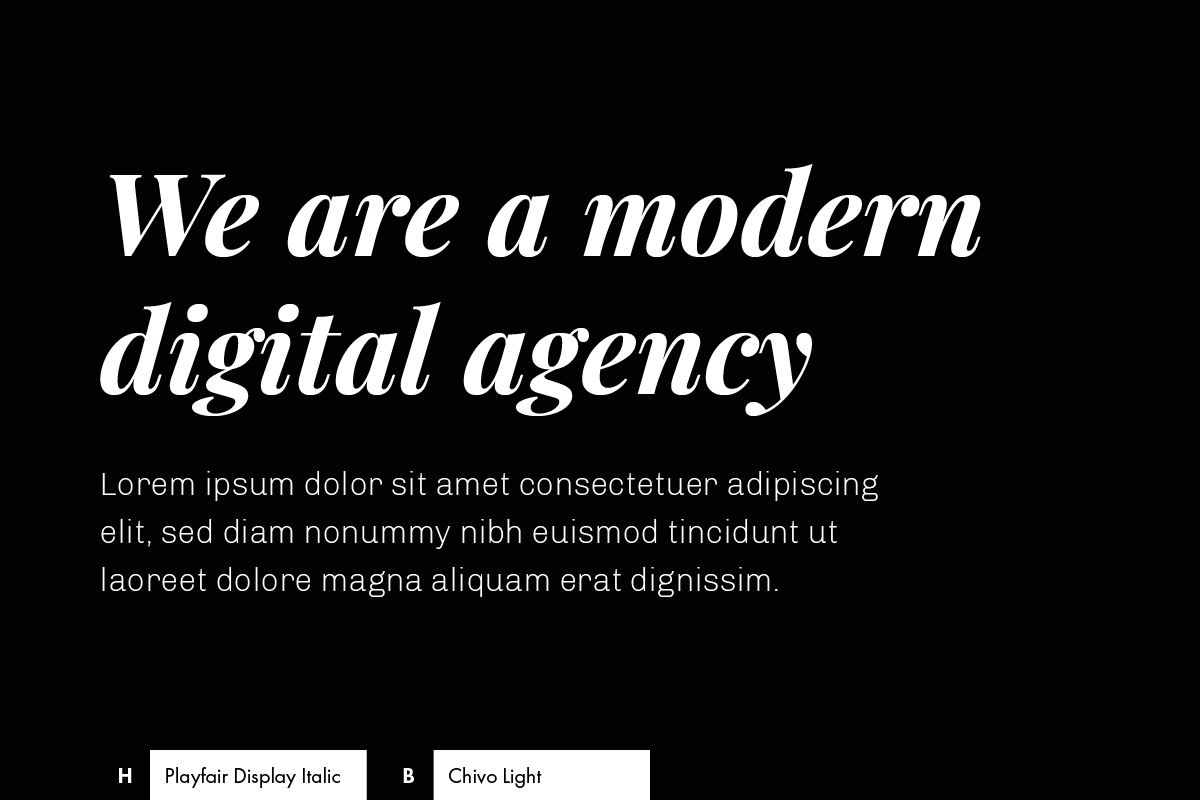 Font Combination: Playfair Display + Chivo