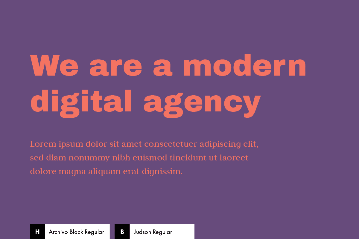 Font Combination: Archivo Black + Judson