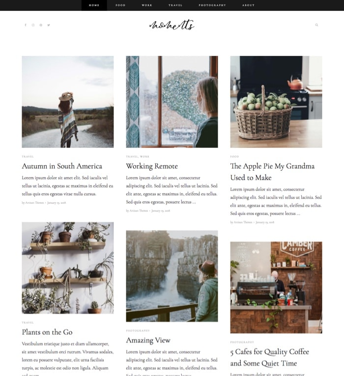 Moments – By Pepper+ WordPress Theme