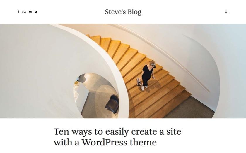 Blog – By Indigo WordPress Theme