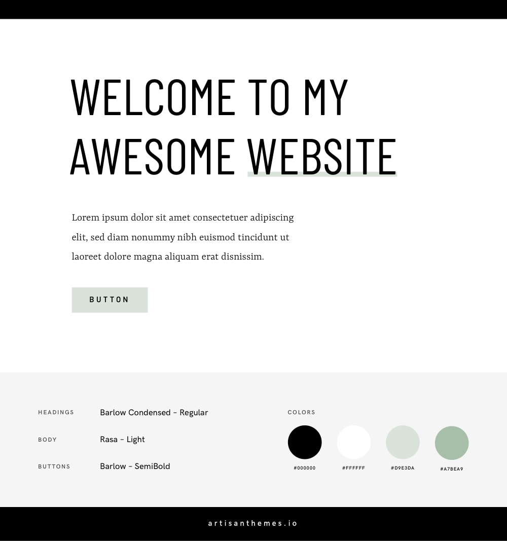 Google Fonts and Color Combination for a Feminine Website 2